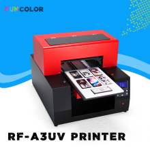 A3 UV Inkjet Printer Impresora 3D Automatic Printing Machine with Printer Head DX5 Epson R1390 for Phone Case, Floats,Acrylic