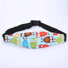 Car Safety Seat Sleep Positioner Infants And Baby Head Support Pram Cartoon Animal Stroller Fastening Belt Adjustable(China)