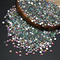 Alta Qualidade Super Brilhante Da Arte Do Prego Strass Branco Crystal Clear AB Cor Não Hotfix Flatback Strass Cristal Pedras