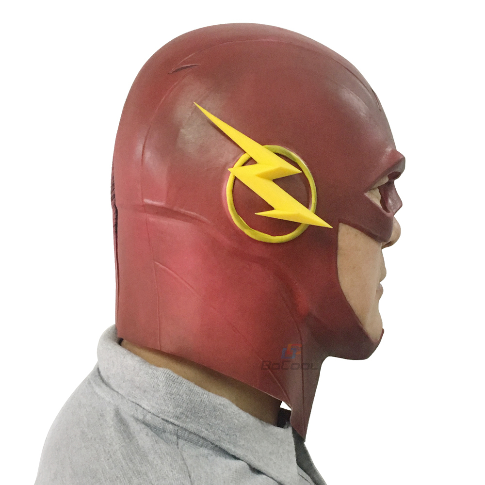 Halloween Mask The Flash Mask Adults DC Movie Cosplay Costume Halloween Full Head Realistic Latex Party Masks