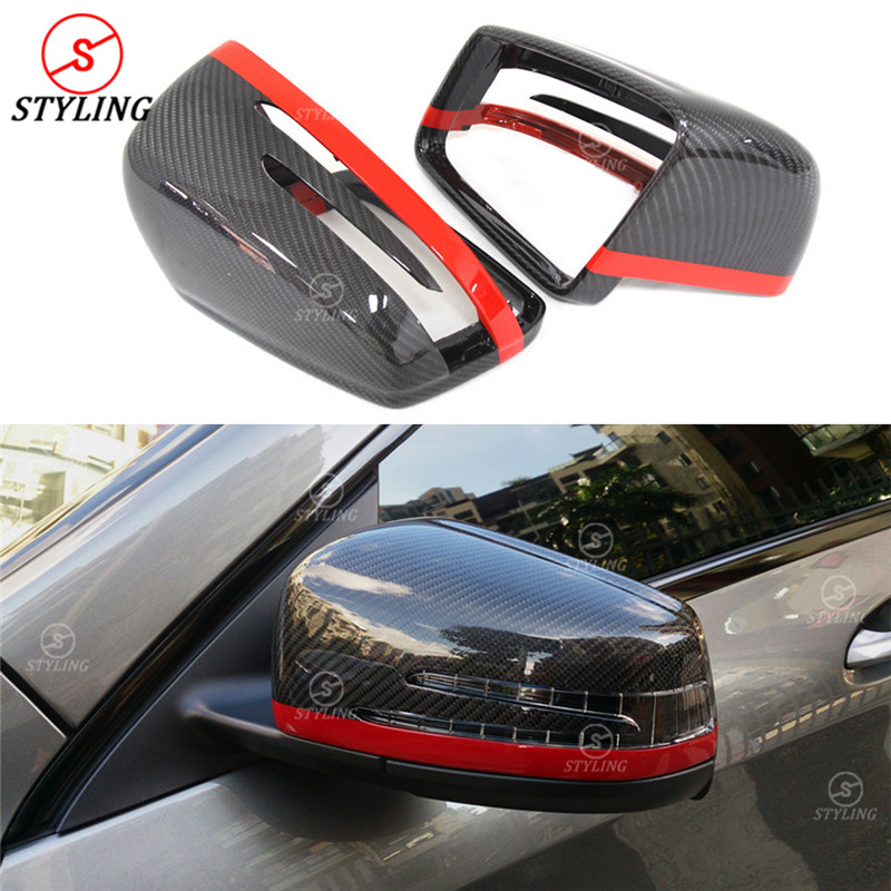 Здесь продается  A B C E S CLA CLS GLK Class For Mercedes W176 W246 W204 W212 W221 W117 W218 With Red Line W204 Carbon Fiber Mirror Cover   Автомобили и Мотоциклы