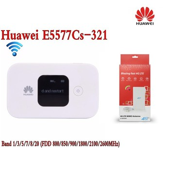 Original Unlock 4G Wireless Router LTE Mobile WiFi Router with SIM Card Slot Huawei E5577Cs-321+ 4g TS9 49dbi antenna