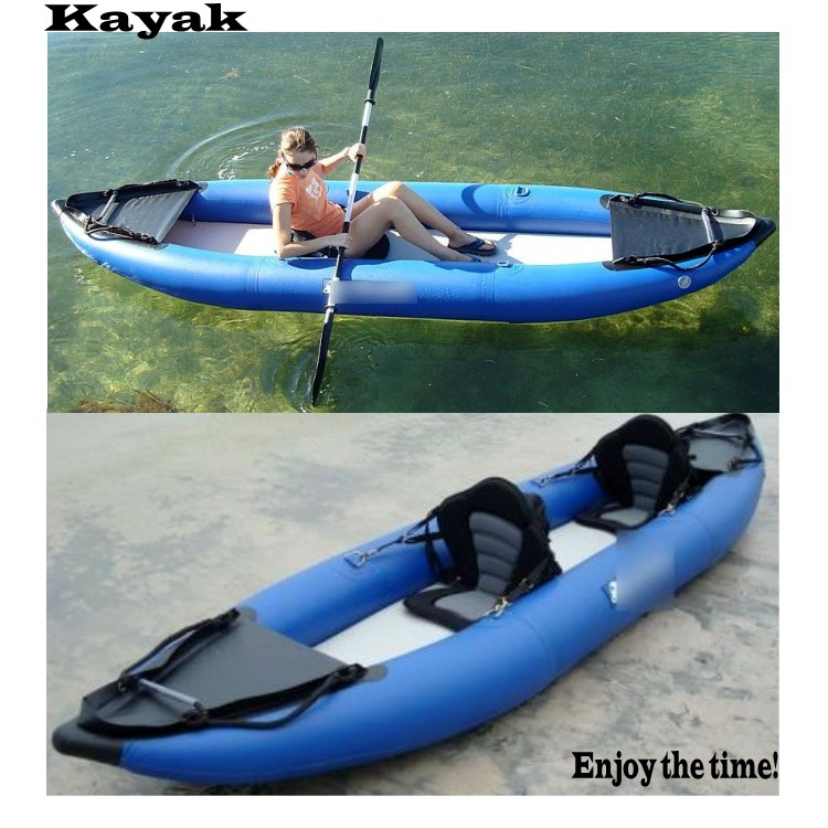Meilleure vente 0.9mm pvc kayak gonflable/kayak de pêche/bateau de pêche/canoë double personne à vendre