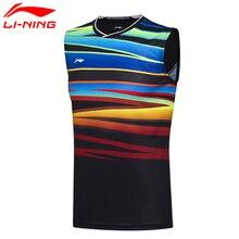 Li ning novos homens em seco badminton colete respirável camisas de luz competição conforto superior forro esportes colete AVSM101 2H conf17