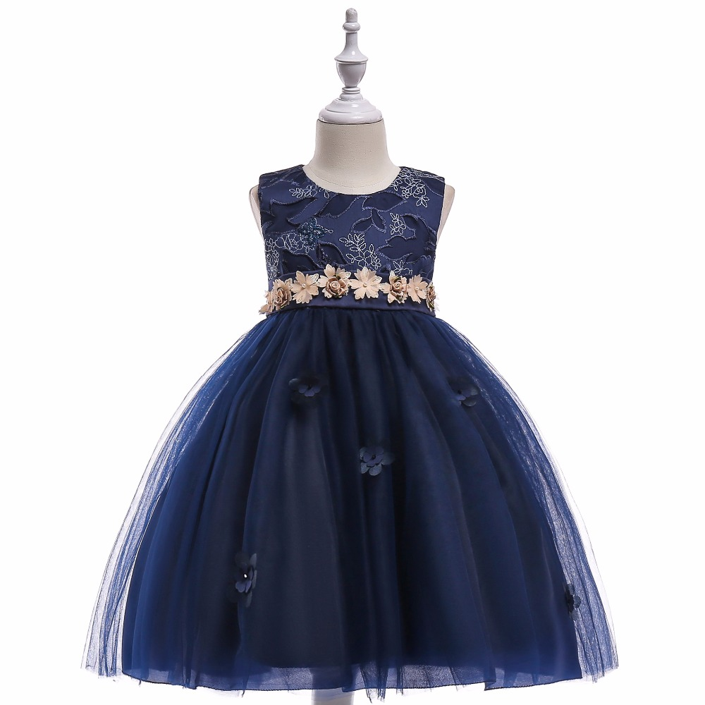 Top Sale Royal Blue Little   Dresses   for Evening Party   Flower     Girls     Dresses   for Wedding