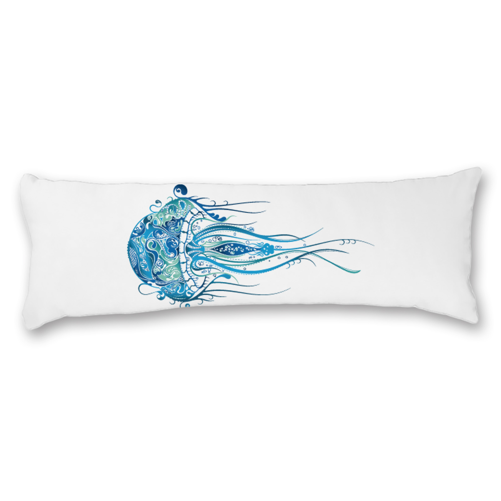 Animal Cute Fish White Long Body Pillow Cover Printed Cotton ...