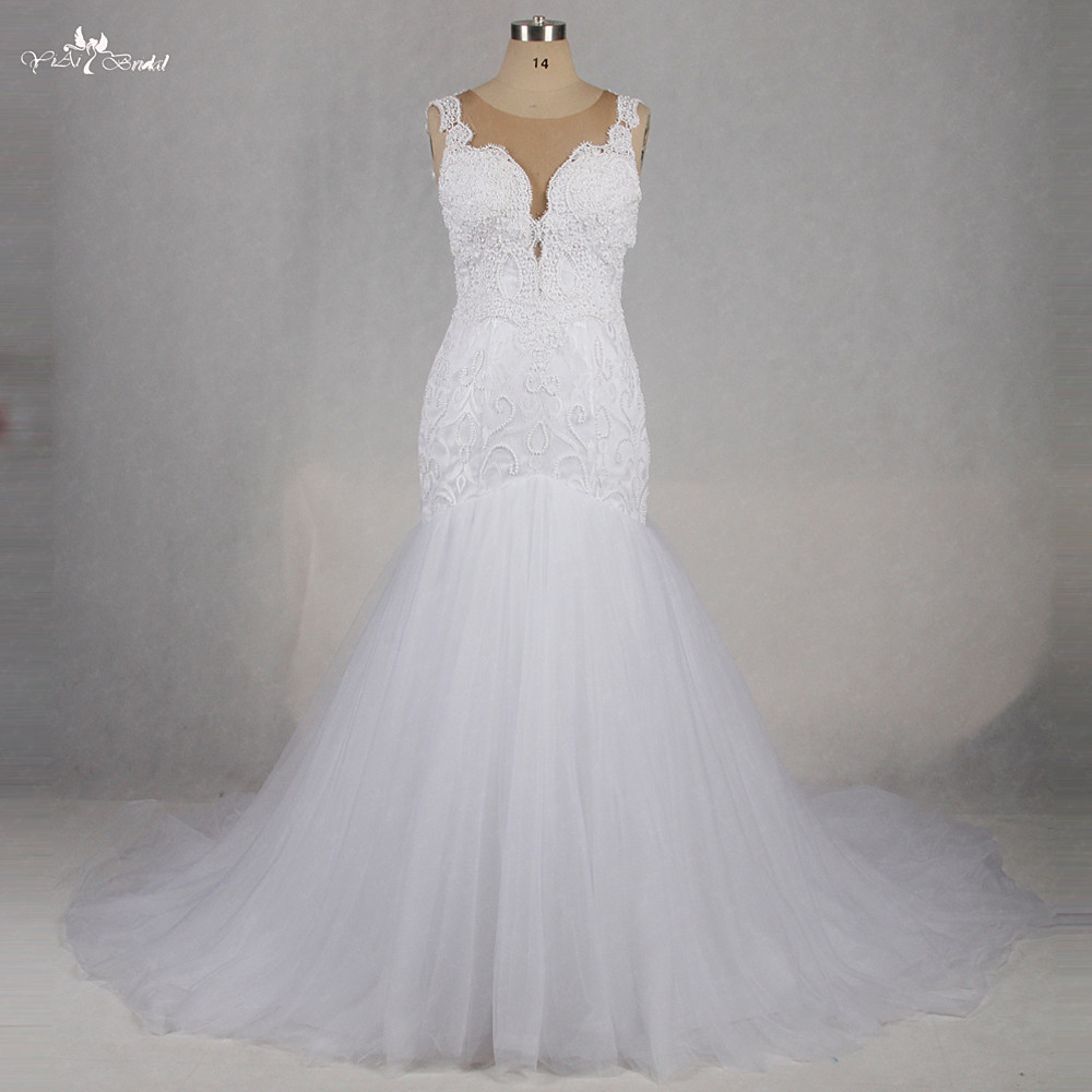 Wedding Dress Illusion Back: Aliexpress.com : Buy RSW1191 Sleeveless Illusion Back Sexy