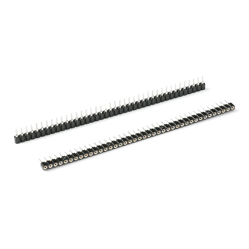 10Pcs 2.54mm Pin Header Female Single Row 40 Pin 2.54mm Round Pin Connector 1x40