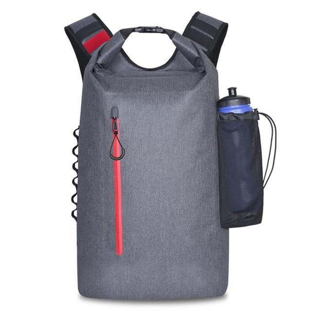 20L открытый речной поход сумка сухая Сумка на двух ремнях ремни пакет для воды водонепроницаемый плавательный мешок для дрифтинга каяк рюкз...