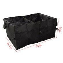 Black Collapsible Car Trunk Organizer Truck Cargo Portable Tools Folding Storage Bag Case Space Saving Auto Boot Organiser