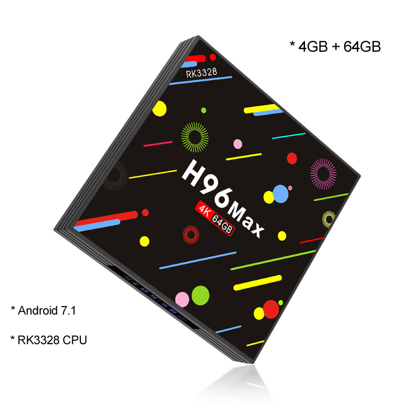 4GB RAM 64GB ROM Smart TV Box Android 7.1 RK3328 Quad Core Mini PC 2.4G/5G Dual Wifi Bluetooth 4K Media Player H96 Max H2 m8 fully loaded xbmc amlogic s802 android tv box quad core 2g 8g mali450 4k 2 4g 5g dual wifi pre installed apk add ons