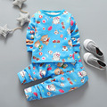 Children Clothing Sets Thermal Underwear Baby boys Pajamas Suits Girls Clothing Sets Sleepwear Kids Cotton Set Shirts+Trousers