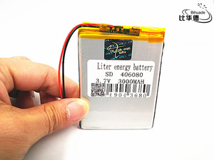 406080 3.7v 3000mAh li-ion Lipo cells Lithium Li-Po Polymer Rechargeable Battery For Bluetooth speaker Mobile Electrograph