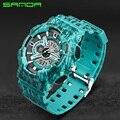 SANDA СВЕТОДИОДНЫЕ Цифровые Часы Спортивные Часы Мужчины Открытый Водонепроницаемый Наручные часы Мужской Часы Военные Цифровые часы Relogio Masculino