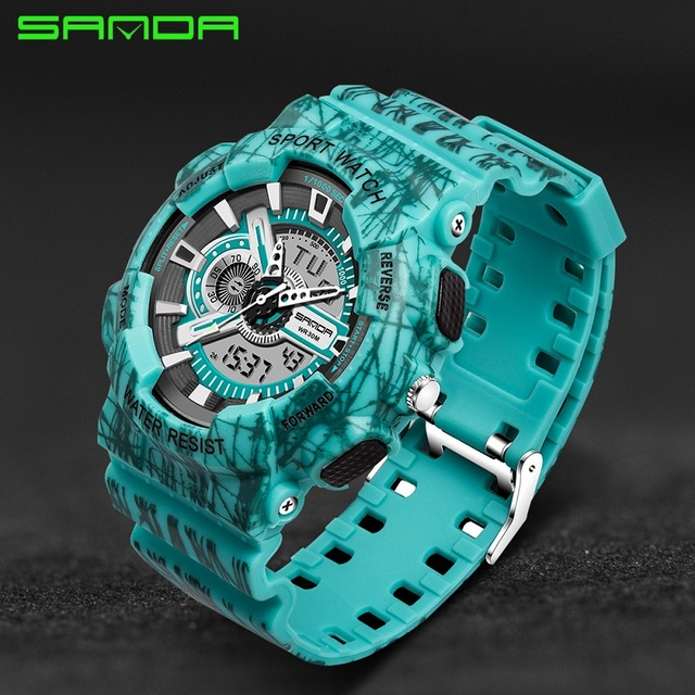 SANDA LED Digital Watches Sport Watch Men Outdoor Waterproof Wrist watches Male Clock Military Digital-watch Relogio Masculino