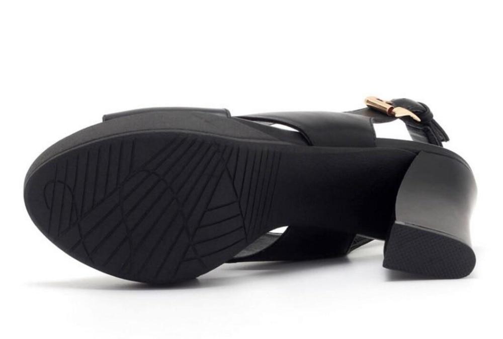 Xia Boca Nueva 11cm Y De 8cm Grueso Tacón Zapatos Kncokar2018high Coreana Pescado 8cm Fondo Mujer Hueco Plataforma Versión qfEZOx