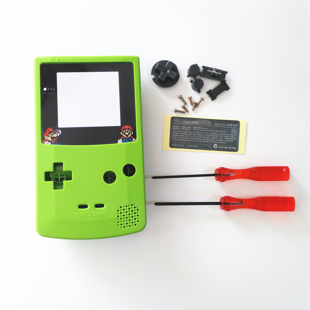 Nintendo game boy color youtube - Ga Gameboy Color Usb Apple Green Full Housing Shell Cover For Gameboy Color For Gbc