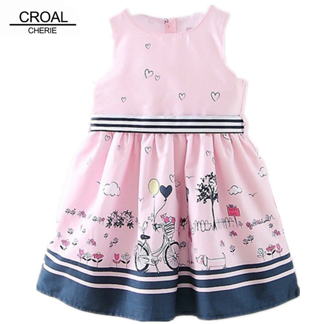 2 7años Moda Princesa Rosada de La Boda Vestidos de Fiesta Para ...