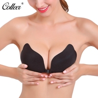 COLLEER Big D Cup Sexy Push Up Bra Soutien Gorge Self Adhesive Silicone Strapless Bras Women