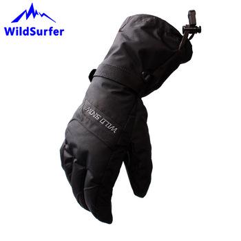 WildSurfer męskie rękawice narciarskie Snowboard mężczyzna zima konna rękawice narciarskie wodoodporne śnieg Narty rękawice Guantes Termicos Hombre W306 tanie i dobre opinie Skiing Gloves W306 bawełna skóra PU