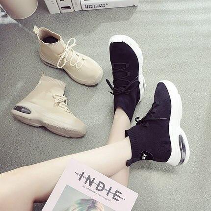 noir Ulzzang Coréenne Automne Cent Éponge Chaussures Gâteau Et Beige Hiver Version De qXwUP6w