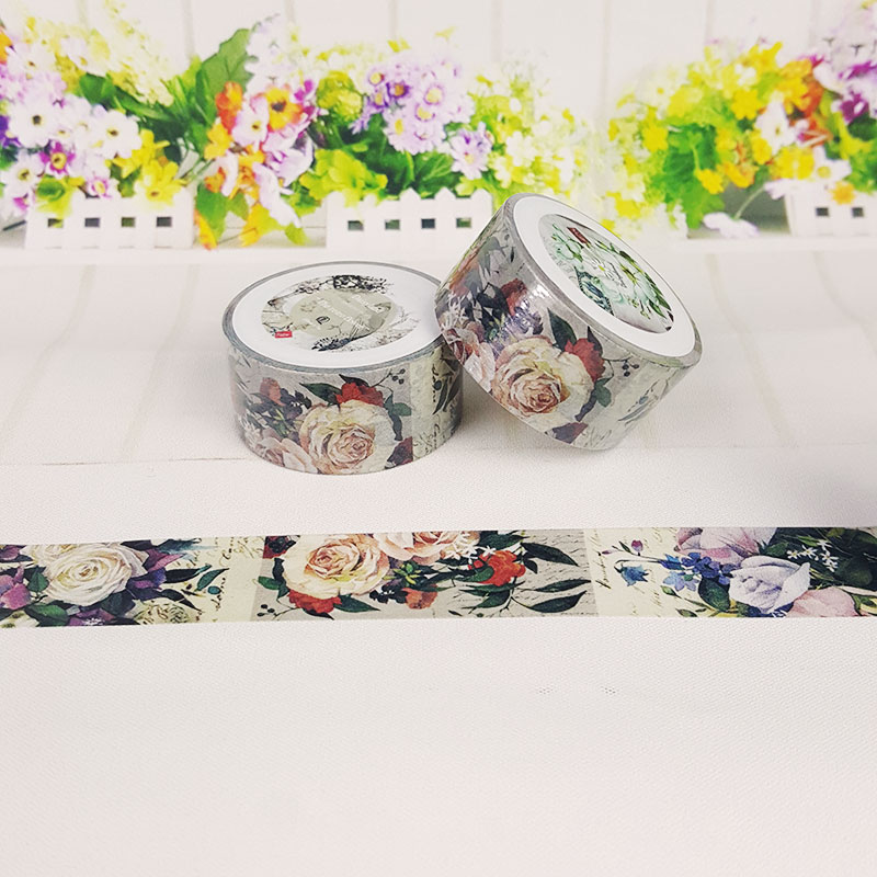 2cm*7m flowers washi tape DIY decoration tape scrapbooking planner masking tape office adhesive tape label stationery kawaii best headphones wired stereo gaming headset with mic over ear headsets bass hifi sound music earphone for smartphone pc computer