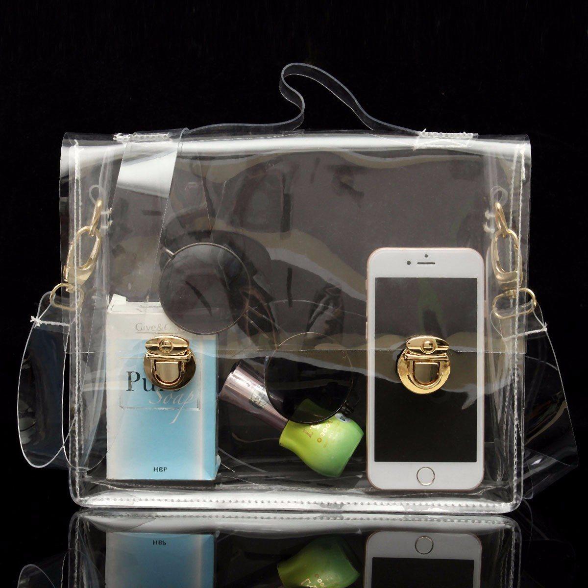 Osmond PVC Transparent Bags Women Clear Bag Shoulder Box Bag Waterproof Crossbody Lady Messenger Bags Clear Sling Handbags