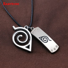 Samyeung 10Pcs Anime Naruto Leather Chain Necklaces Homme Cosplay Naruto Kakashi Necklace Male Necklace Neckless Collier Femme(China)