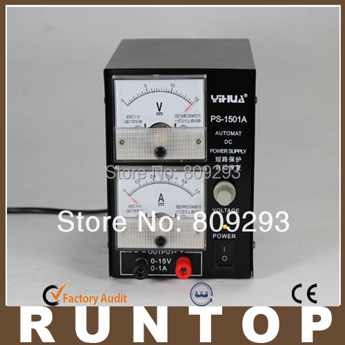 ФОТО high Quality YIHUA 1501A  15V 1A Adjustable DC Power Supply Mobile Phone Repair Power Test Regulated Power Supply
