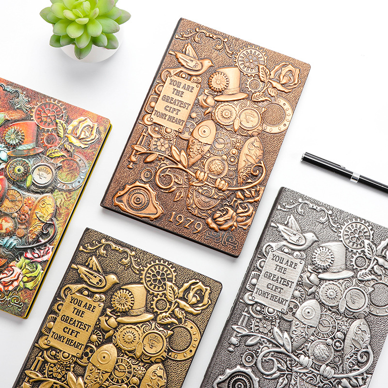 Machine Owl Hardcover A5 Lined Notebook Vintage Journal Book 100 Sheets 2018 New Diary Gift Free Shipping hardcover making machine hardcover case maker hardcover book cover making machine a4 vertical loading