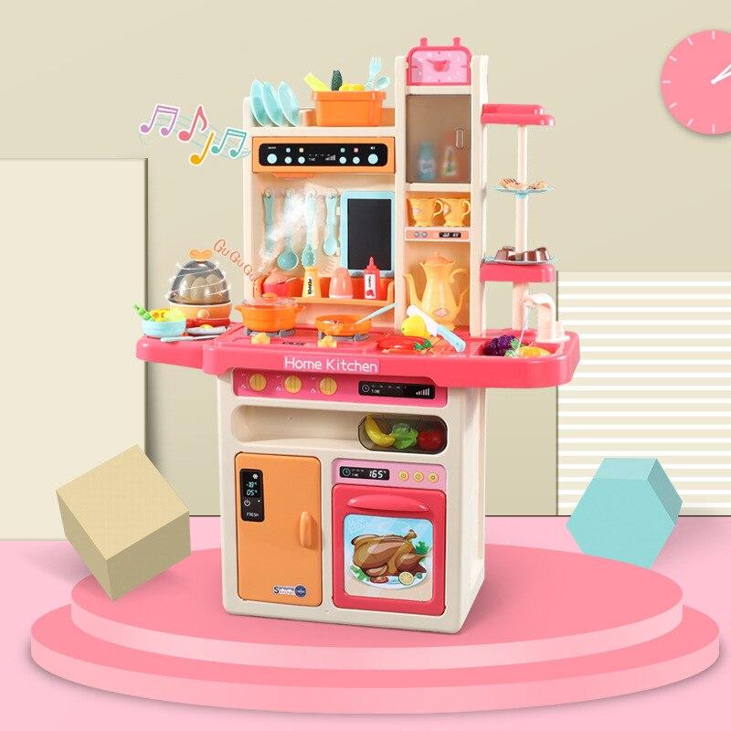 Детская большой моделирования пластиковые Кухонные игрушки с музыкой распыления воды Кухонный Контейнер для яиц пароход дети Моделирован