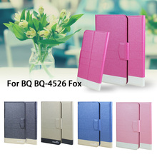 5 Colors Super! BQ BQ-4526 Fox Phone Case Leather Cover,2017 Fashion Luxury Full Flip Leather Stand Phone Cases Cover