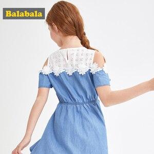 Image 4 - BalabalaBaby Girl Dress with Animals Princess short Sleeve Dresses Children summer Clothing for Kids