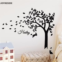 JOYRESIDE Tree Pattern With Customed Name Wall Decal Art Vinyl Sticker Home Children Playroom Decor Interior Design Sticker A625