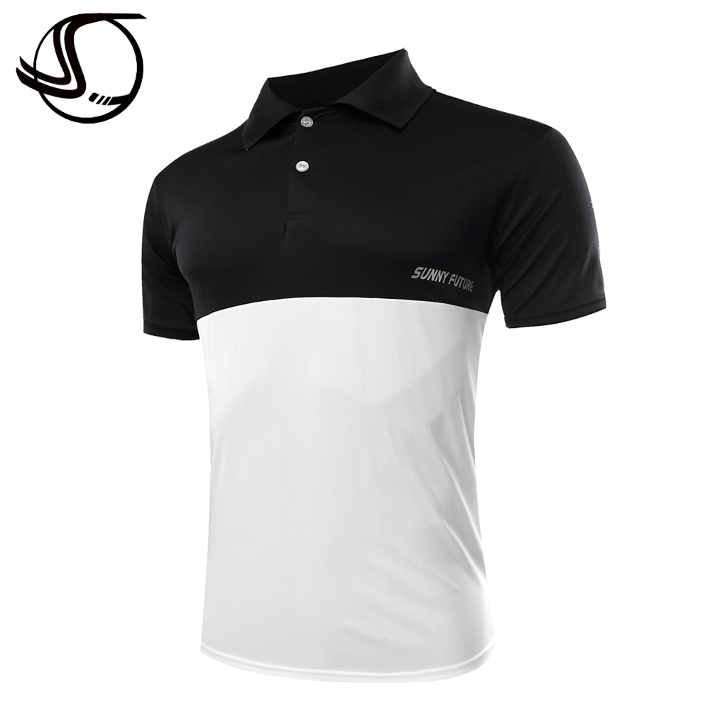 Sunny Future Brand Summer Men Sport Polo Shirts Short Sleeve Mix