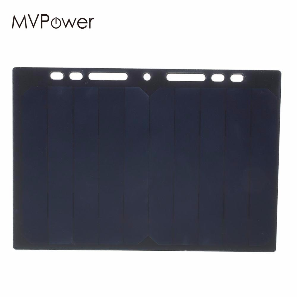 Portable 5V 5W Solar Panel Solar Charging Power Panel Leaflet A5 Charger USB For Android IOS Mobile Smart Phone