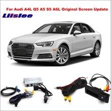 Liislee For Audi A4 A4L 2010~2011 Original Screen Reversing Track Image + Rear Camera / Update Digital Decoder