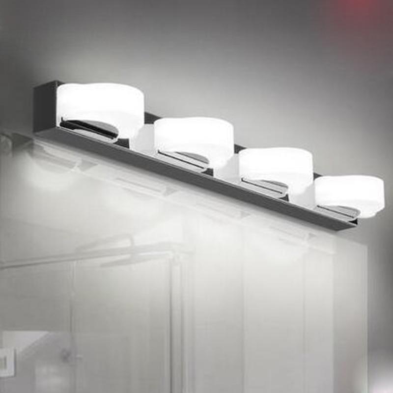 Anti fog mirror lamp LED bathroom toilet aisle wall lighting modern minimalist personality makeup cabinet lamp for livingroom zx modern acryl led mirror wall lamp waterproof and anti fog cabinet mirror light bathroom toilet dressing room make up lamp
