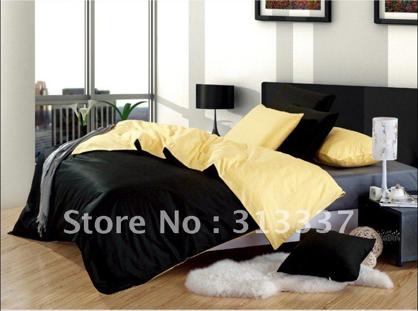 Black And Yellow Comforter Queen: Free Shipping Wholesale 100% Cotton Queen Bedding Quilt