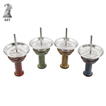 SY Hookah Ceramic One Hole Phunnel Bowl With Metal Charcoal Screen Holder For Shisha Chicha Narguile Accessories
