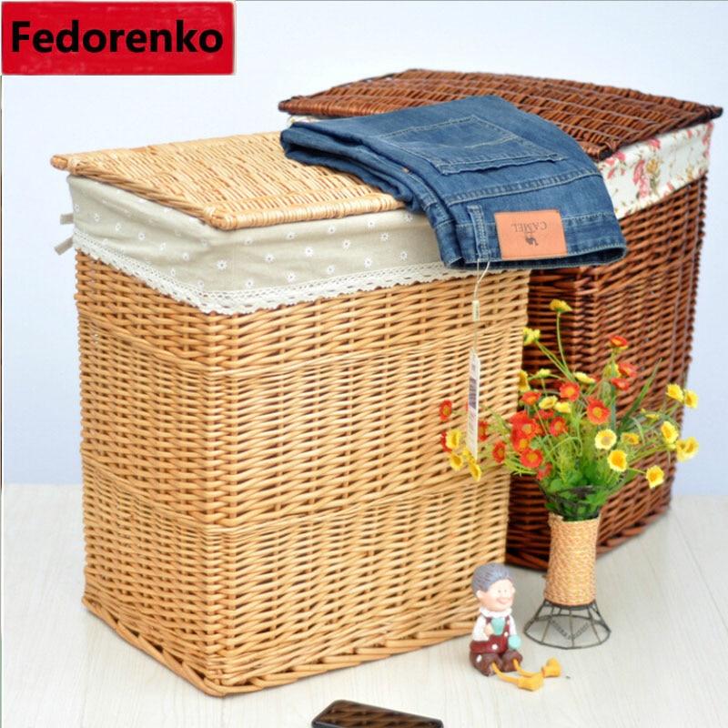 Big Laundry Basket For Clothes Laundry Basket Wicker Decorative Storage  Baskets Boxes Cesta Lavanderia Panier Rangement Tissu In Storage Baskets  From Home ...