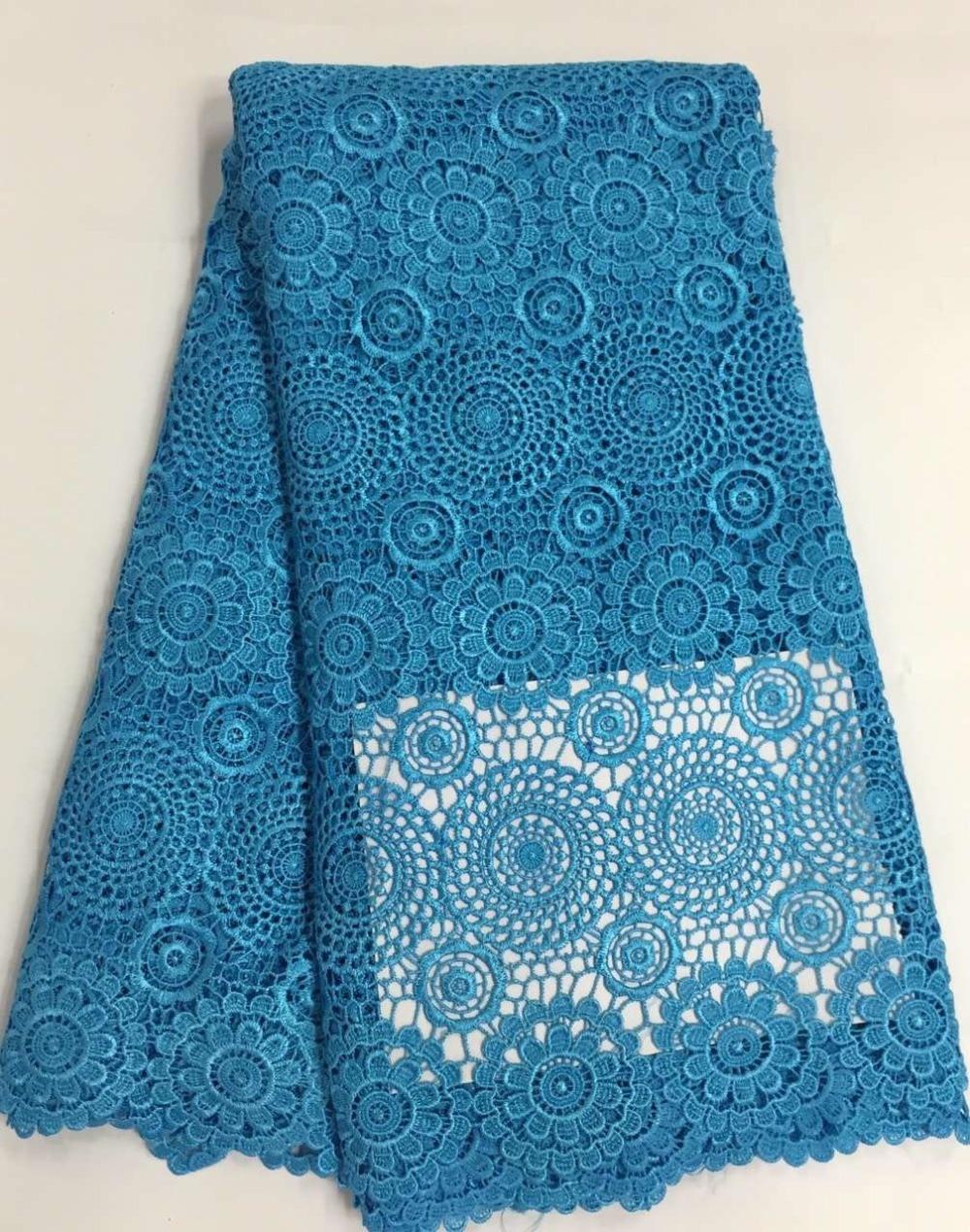 CW2023 Cordón de cordón de guipur nigeriano de poliéster africano - Artes, artesanía y costura - foto 3