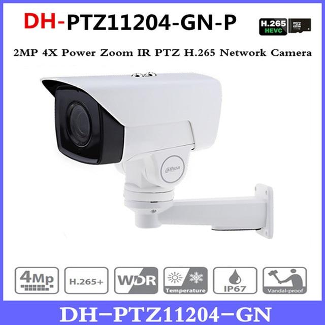 DH PTZ11204-GN-P 4X PTZ IP Camera 2MP POE bullet Motorized 2.8-11.2mm H.265 IR 60M IP67 Bracket CCTV Security DH-PTZ11204-GN