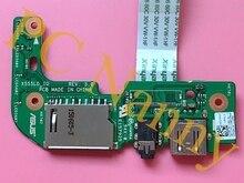 Оригинальный ноутбук Для asus X555L X555LD USB AUDIO CARD READER ДОСКА X555LD_IO тест ДОСКА хорошо бесплатная доставка