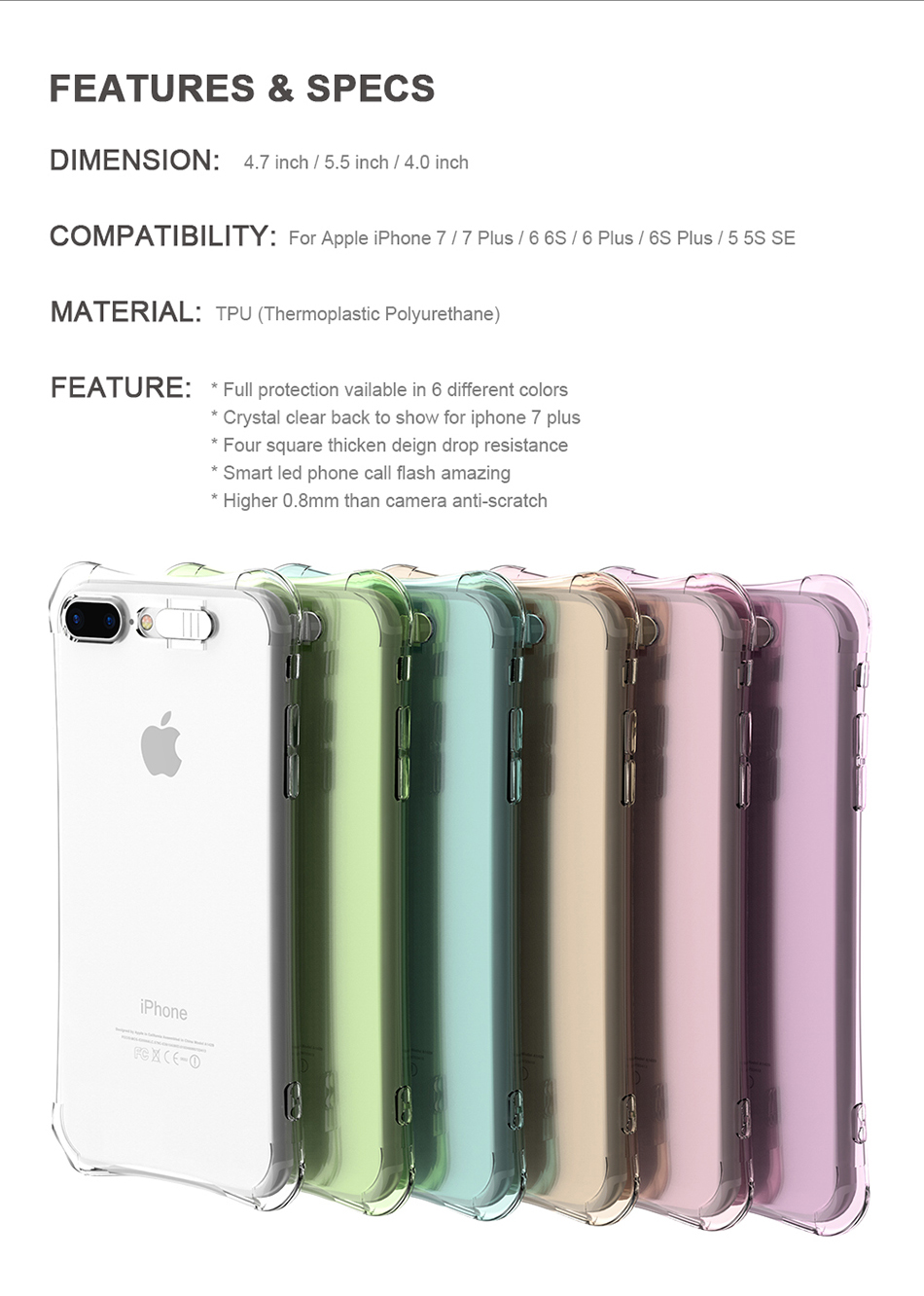 Flash TPU Case For iPhone 6 6S 7 Plus 5 5S SE YYF (10)