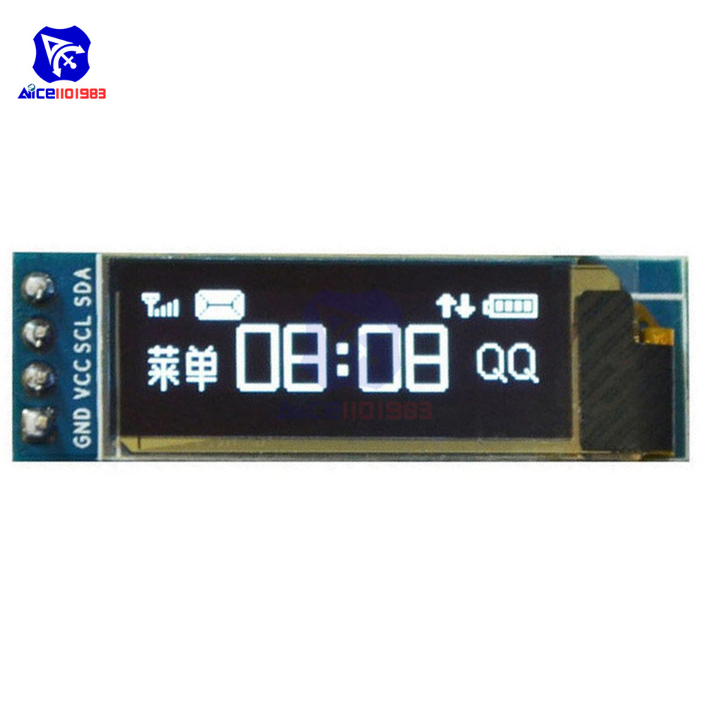 0.91 Inch 128x32 12832 I2C IIC Interface Serial White OLED Display Module 0.91