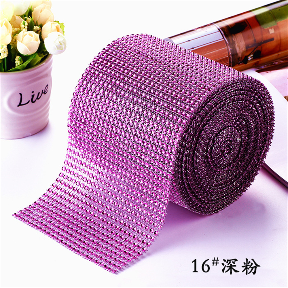 Colorful 1 Yard Diamond Mesh Wrap Cake Roll Bling Crystal