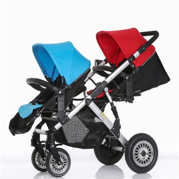 Twin Baby Stroller For Second Baby Twins Baby Pram Strolelr 3 In 1 Can Seat Can Lay Baby Carriage