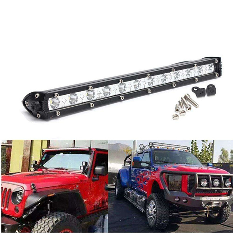 Car Auto Light 36W 13inch 12 LED Bulbs Spot Work Light Bar Driving Offroad font b