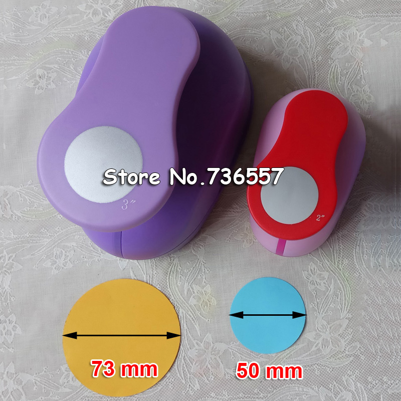 2pcs 3'' 2 Circle punch diy craft hole puncher for scrapbooking punches eva maker Kids scrapbook paper cutter Embossing sharper футболка sela sela se001empot62